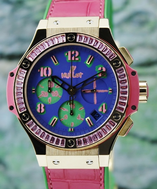Like New Hublot Big Bang Pop Art 18K Rose Gold Chronograph Watch / 341.VP.5199.LR.1933.POP14